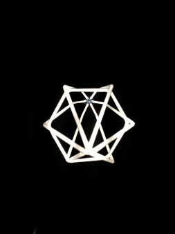 Hexagon Pendant in Designer White (Bottom view)