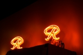 "Western Neon produced 235 mini ""R""s produced for each bulb that was on the original ""R"""