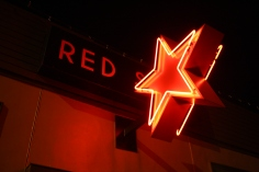 Red Star Installed. Photo by Lia Hall